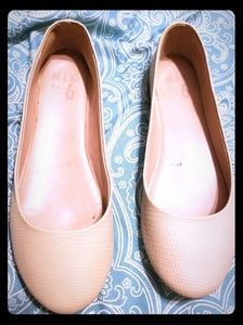 Nude ballet flats size 7.5